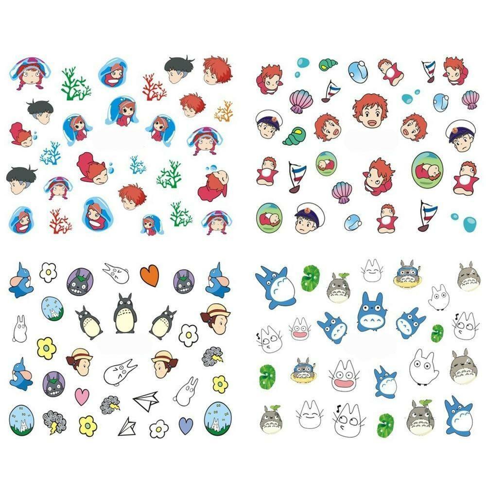 Ghibli Studio Character Nail Sticker 12pcs/lot - ghibli.store