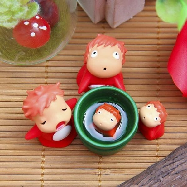 Ponyo on the Cliff by the Sea Toy Garden Decor - ghibli.store