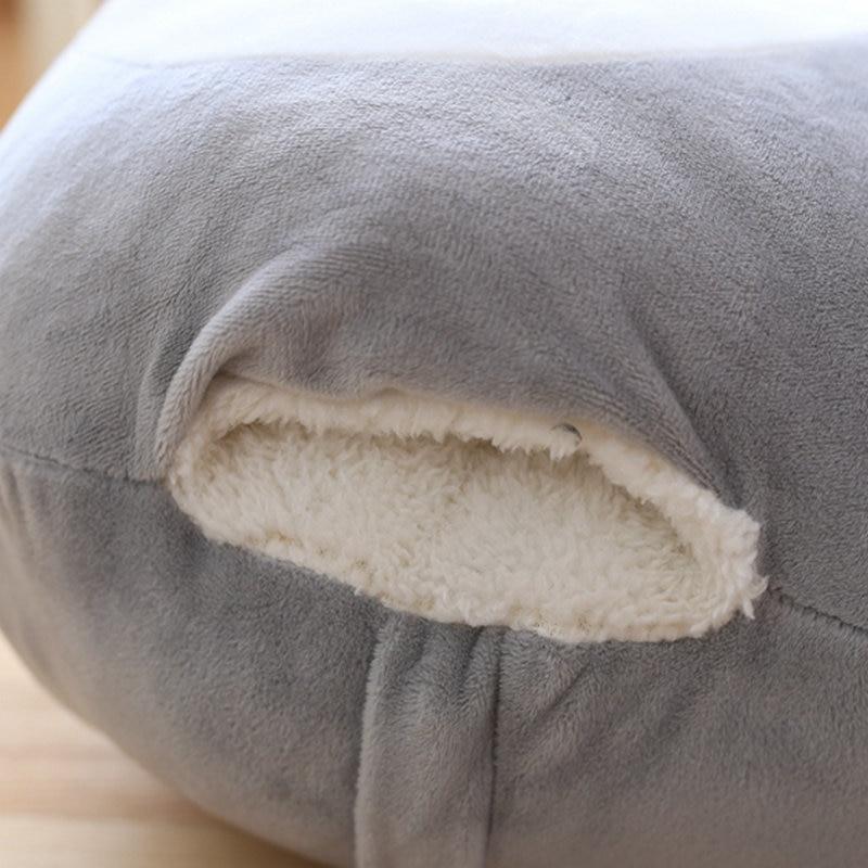 My Neighbor Totoro Hand Warmer Plush Pillow With Grey Blanket - ghibli.store