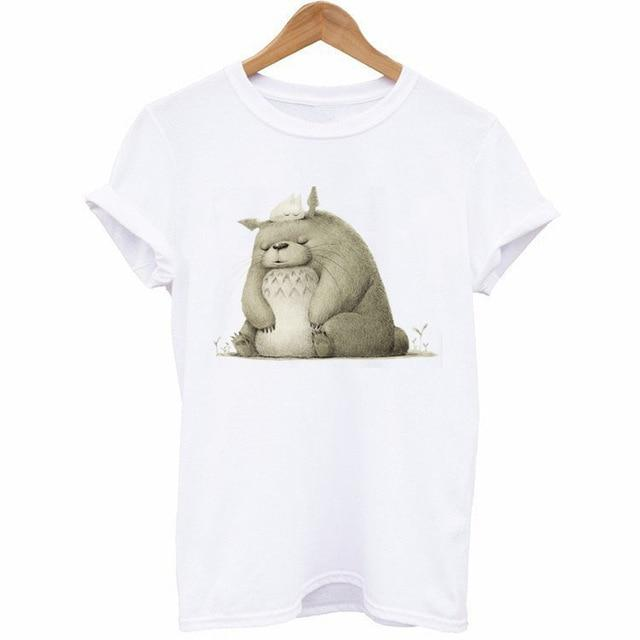 Cute Totoro Print T-Shirt For Women 12 Styles - ghibli.store