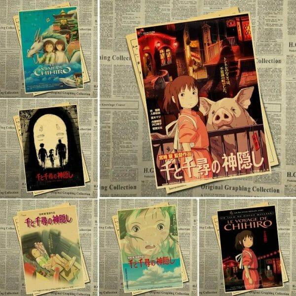 Spirited Away Vintage Kraft Paper Poster - ghibli.store