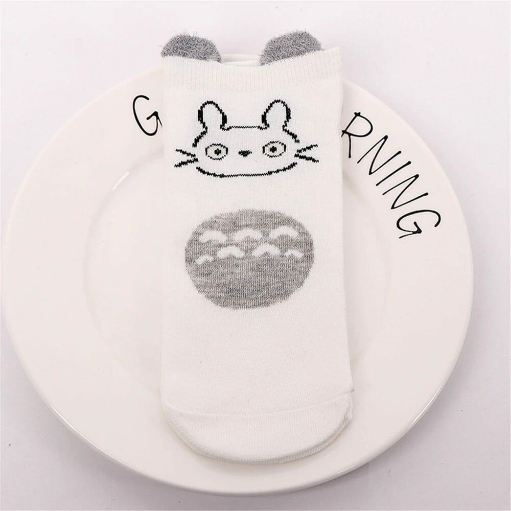 My Neighbor Totoro Cute Fluffy Ears Socks 5 Pairs/Box