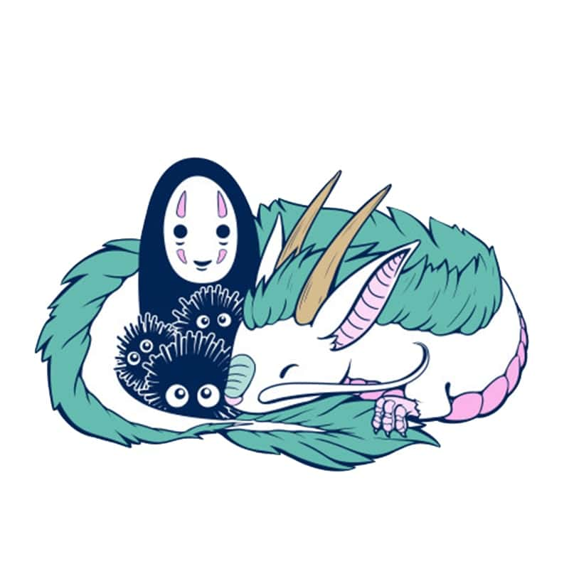 Spirited Away No Face Kaonashi and Haku Badge Pins