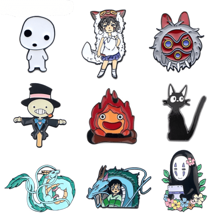 Ghibli Studio Characters Cute Badge Pins 15 Styles