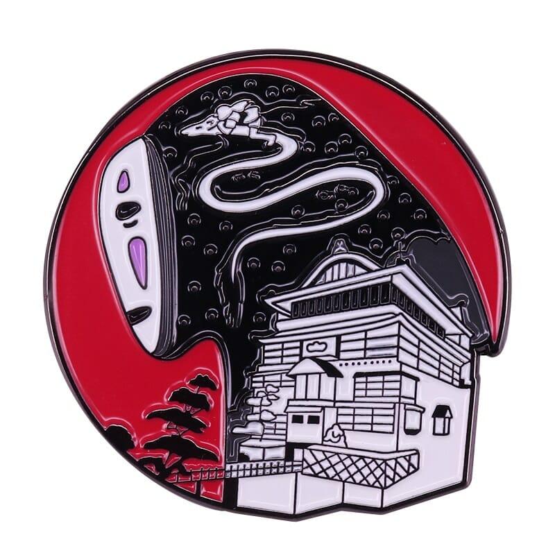 Spirited Away Kaonashi No Face Bathhouse Badge Pins