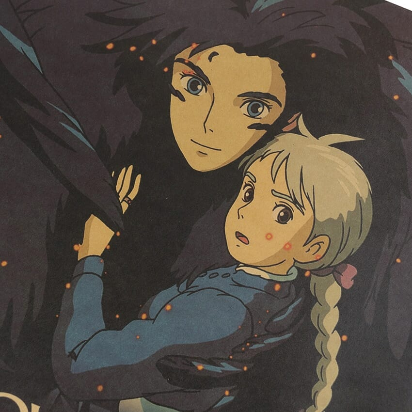 Howl's Moving Castle Howl and Sophie Kraft Paper Poster