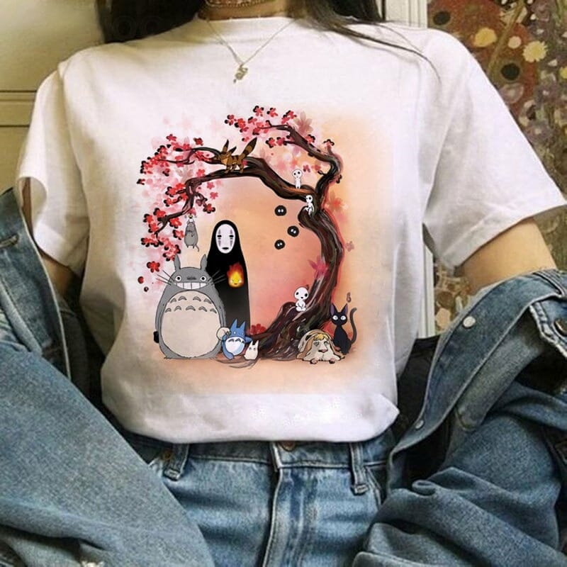 Ghibli Studio Totoro And Friends T shirt 22 Styles