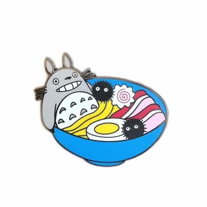 My Neighbor Totoro In Ramen Bowl Badge Pins