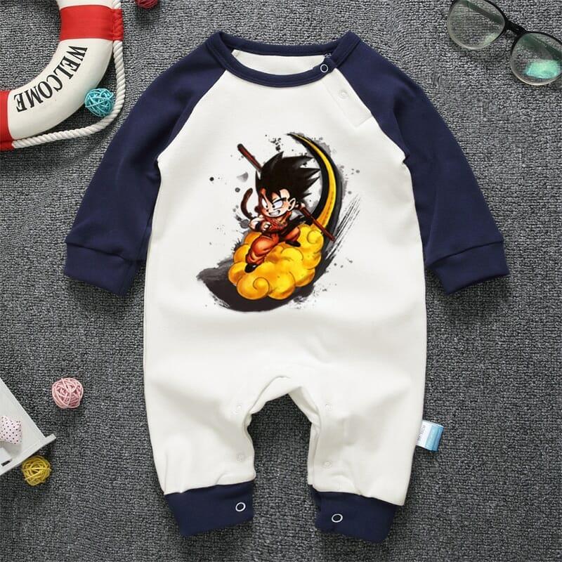 Dragon Ball Son Goku Long Sleeve Baby Onesies