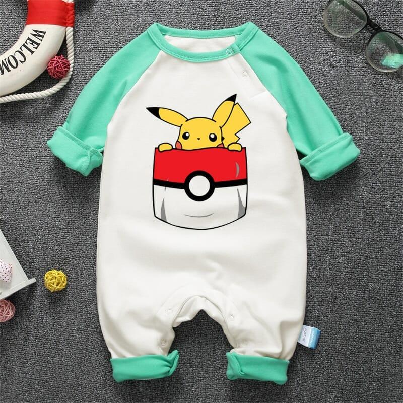 Pokemon Pikachu Long Sleeve Baby Onesies