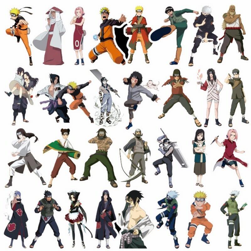 Naruto Waterproof Sticker 50/100 Pcs