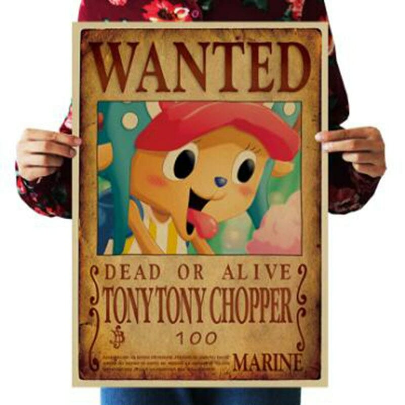 One Piece Characters Wanted Vintage Posters