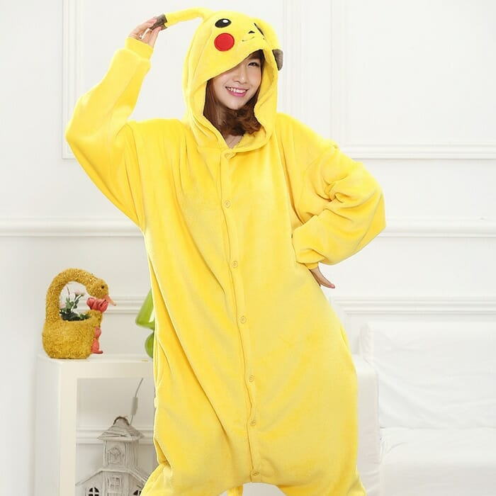 Pokemon Pikachu Onesie Halloween Cosplay Costumes