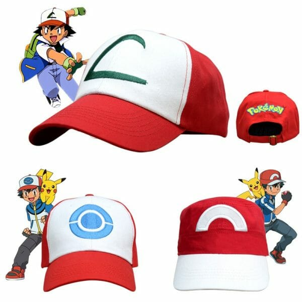 Pokemon Ash Ketchum Cosplay Caps 4 styles