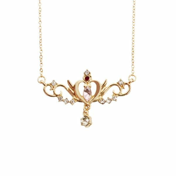 Sailor Moon Heart Crown Metal Pendant Necklace