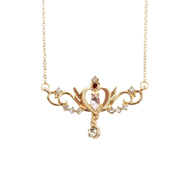 Sailor Moon Heart Crown Metal Pendant Necklace