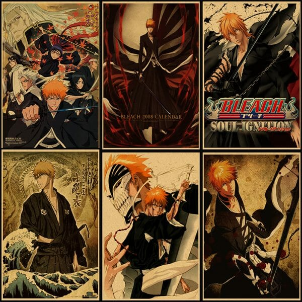 Bleach Retro Kraft Paper Poster