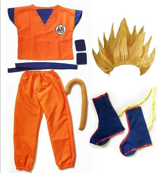 Dragon Ball Z Son Goku Halloween Cosplay Costumes With Accessories