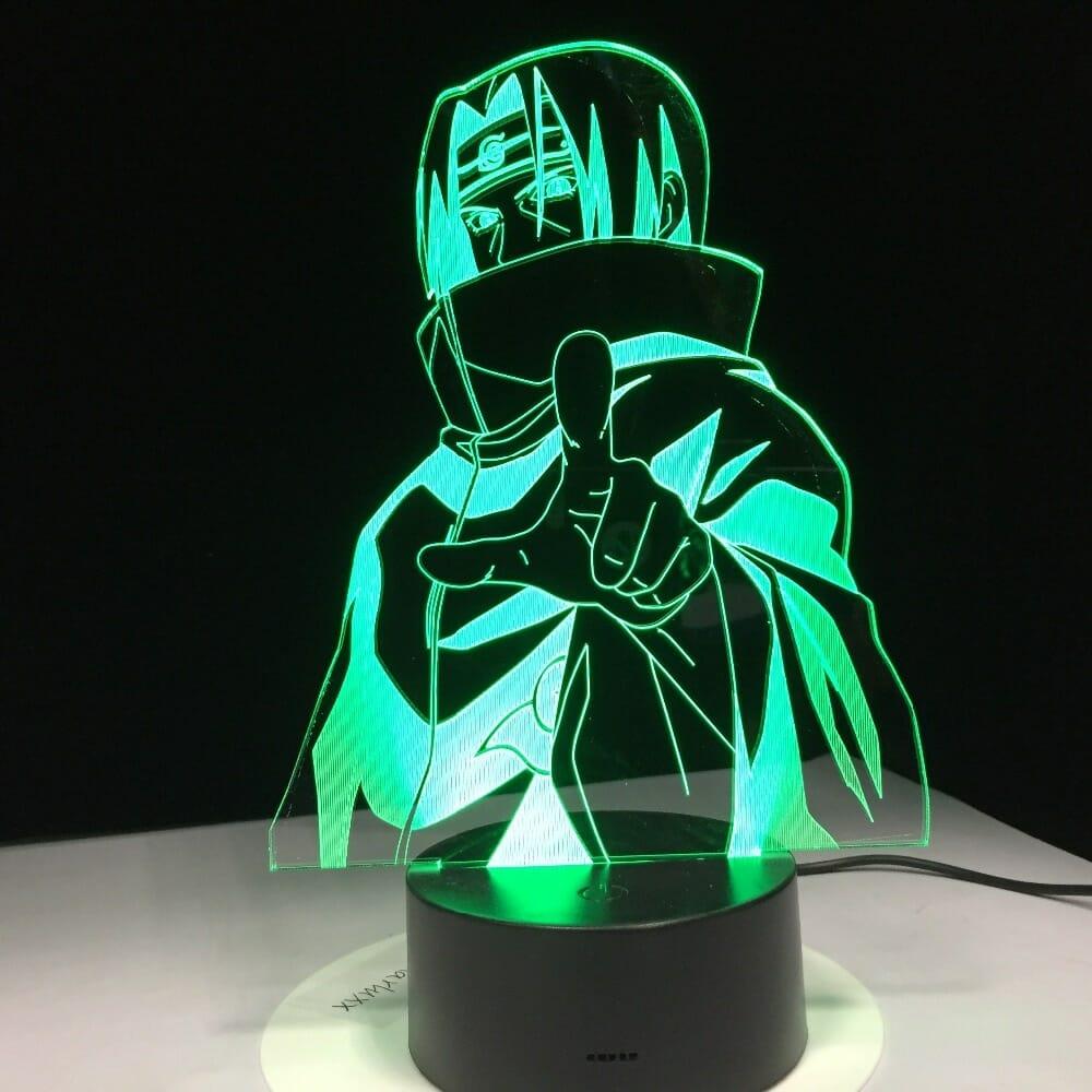 Naruto Uchiha Itachi 3D Led Night Light 7 Colors Changing