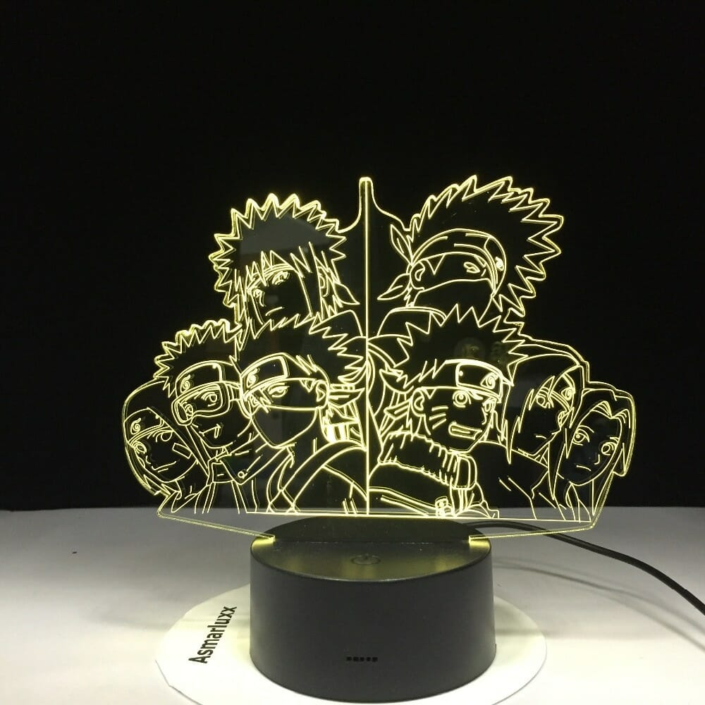 Naruto Team 3D Led Night Light 7 Colors Changing