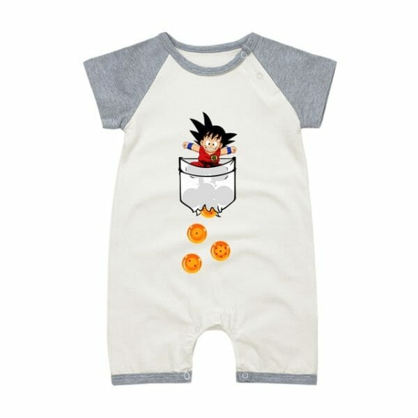 Dragon Ball Son Goku Baby Onesies Short Sleeve 9 Styles
