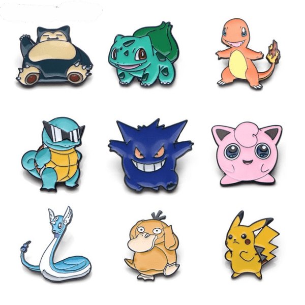 Pokemon Collection Badge Pins 12 Styles