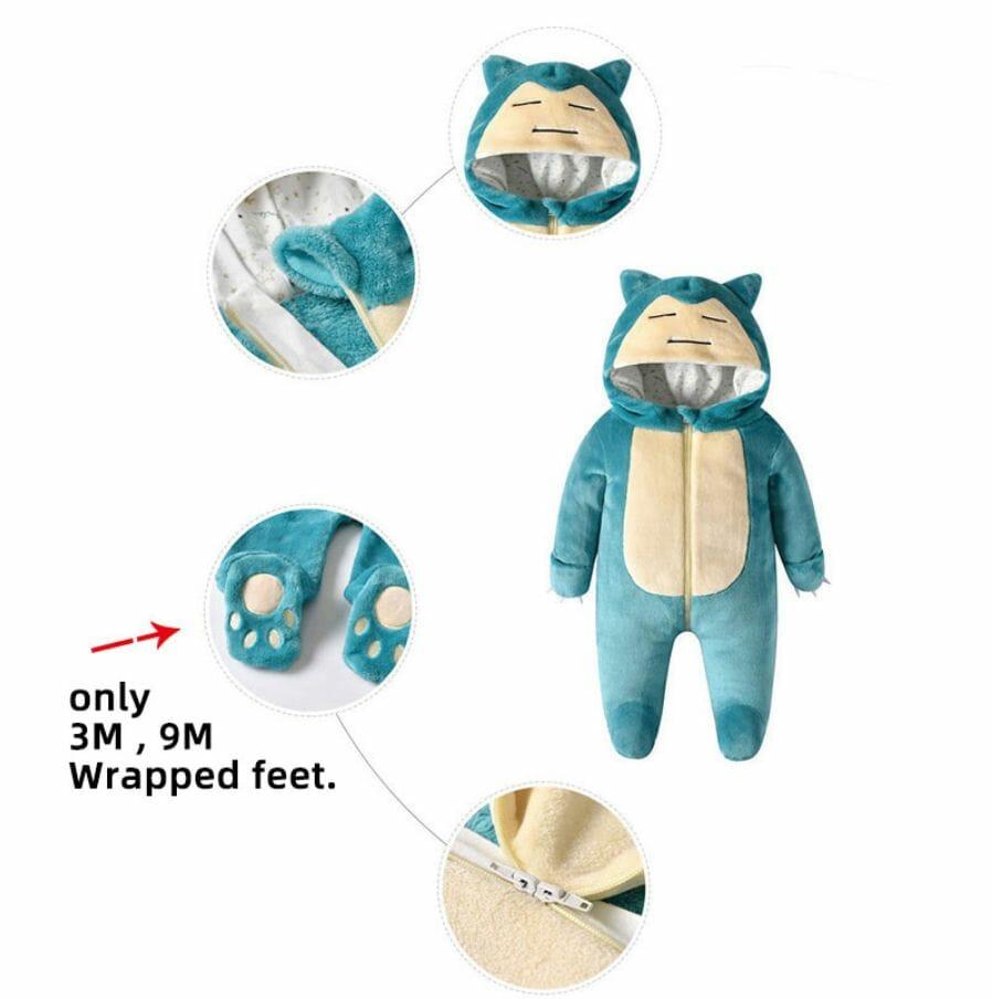Pokemon Snorlax Halloween Cosplay Baby Onesie