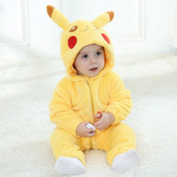 Pokemon Pikachu Halloween Cosplay Baby Onesie