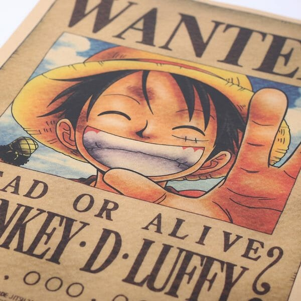One Piece Luffy Wanted Wall Poster