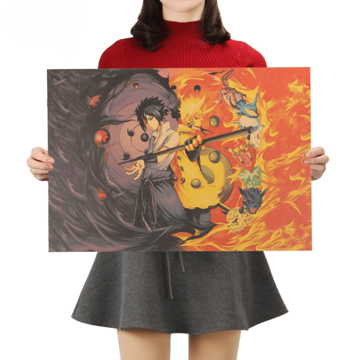 Naruto Uchiha Sasuke Wall Poster