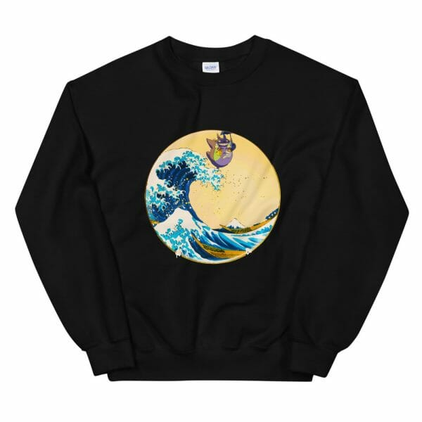 Totoro On The Waves Sweatshirt Unisex