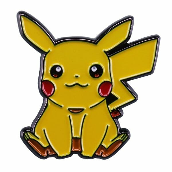 Pokemon – Sitting Pikachu Badge Pins