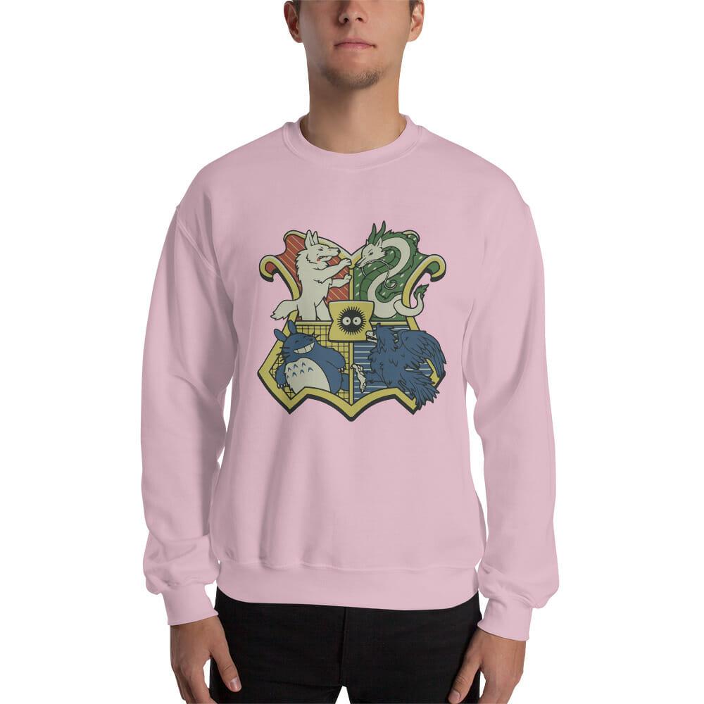 Studio Ghibli Characters As Hogwarts House Sweatshirt Unisex