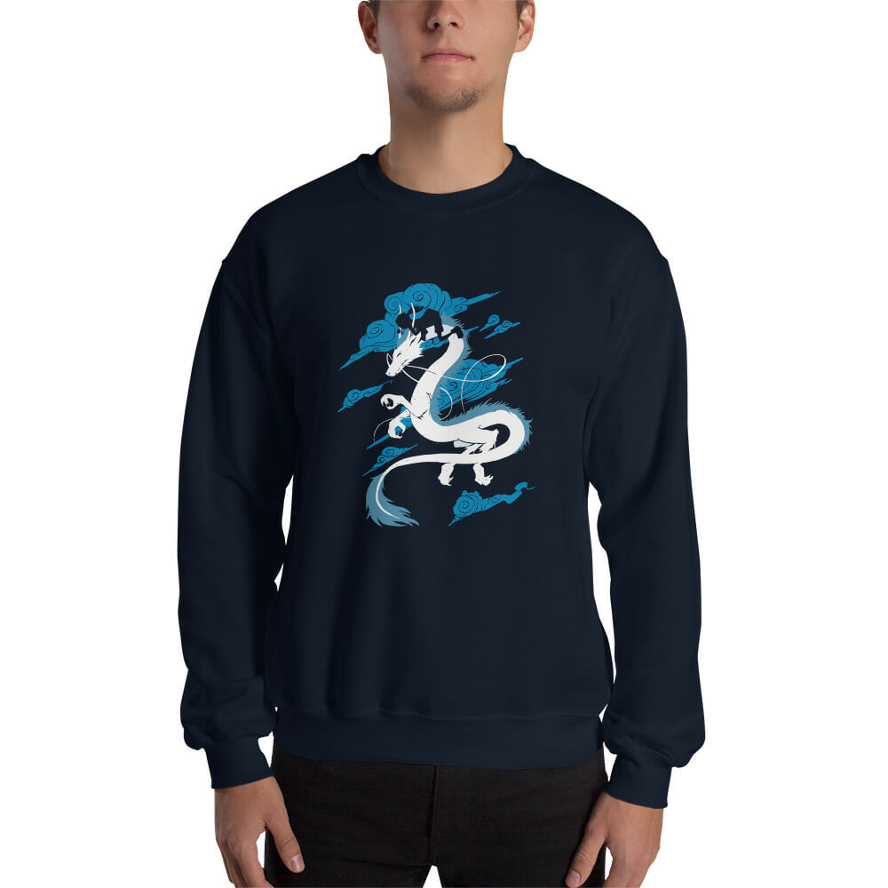 Spirited Away – Sen Riding Haku Dragon Sweatshirt