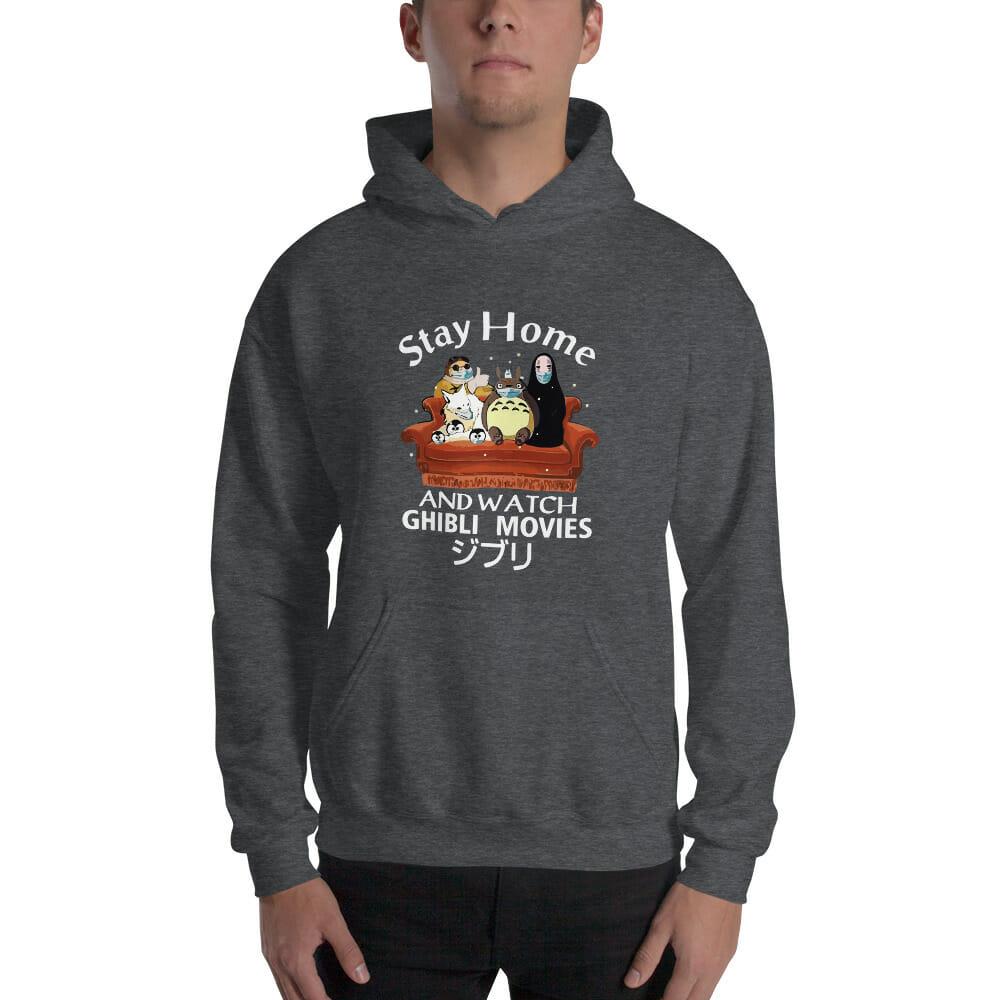 Stay Home and Watch Ghibli Movie Hoodie Unisex
