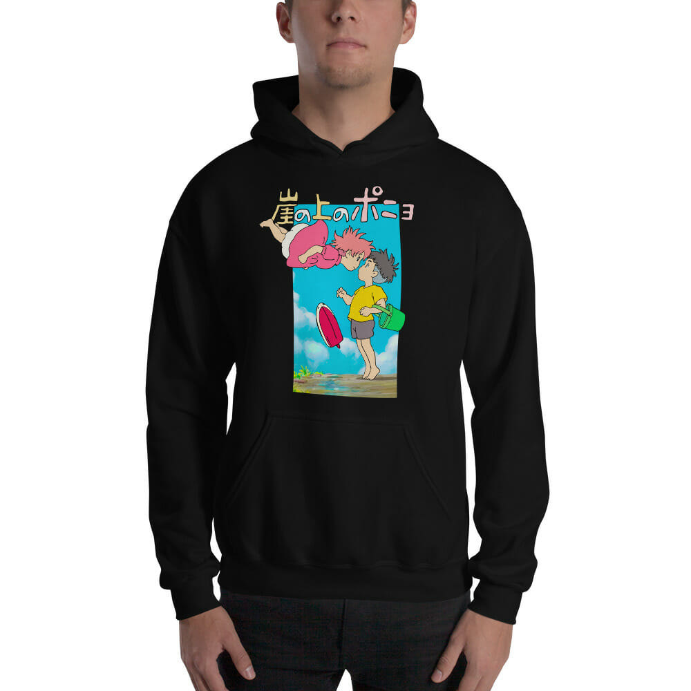 Ponyo On The Cliff By The Sea Poster Hoodie Unisex