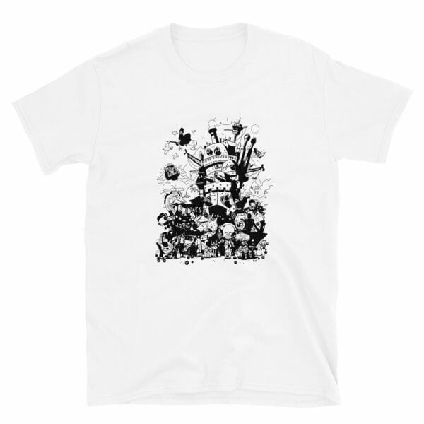 Studio Ghibli Art Collection Black and White T Shirt