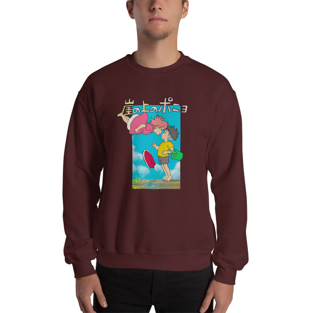 Ponyo On The Cliff By The Sea Poster Sweatshirt Unisex