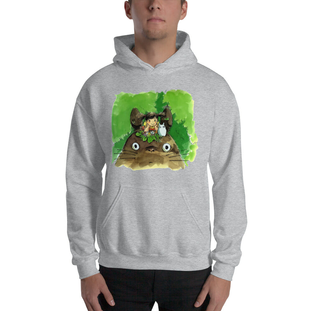 My Neighbor Totoro & Mei Water Color Art Hoodie