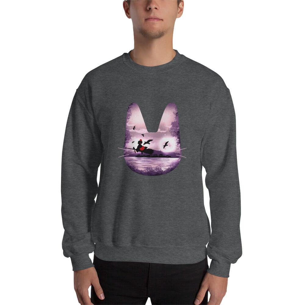 Kiki's Delivery Service – Purple Jiji Sweatshirt Unisex