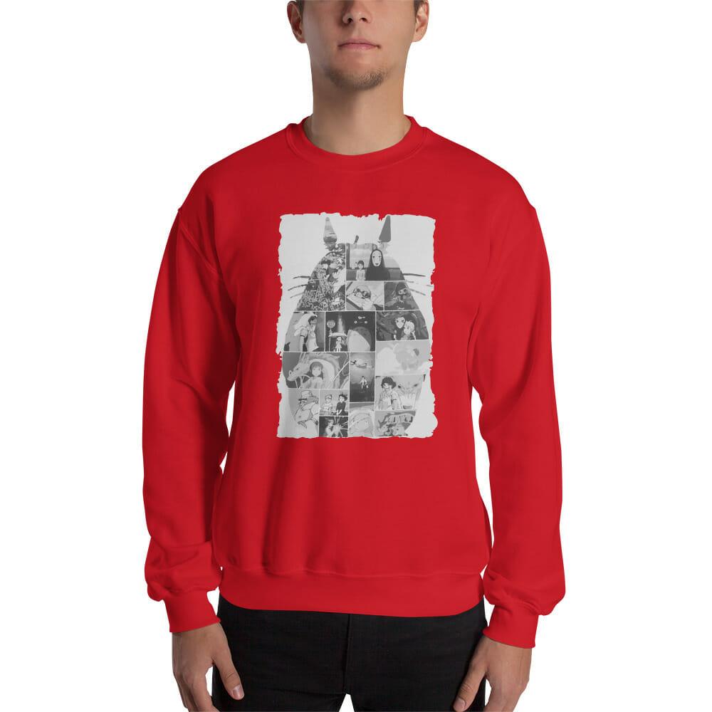 Ghibli Studio Collage Art Sweatshirt Unisex