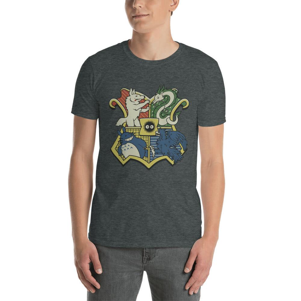 Studio Ghibli Characters As Hogwarts House T Shirt Unisex