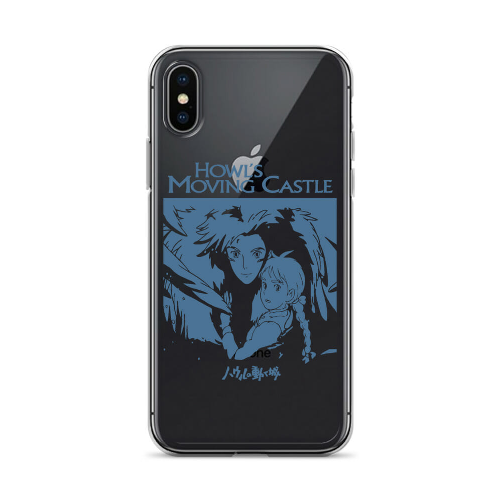 Howl's Moving Castle Black & White iPhone Case