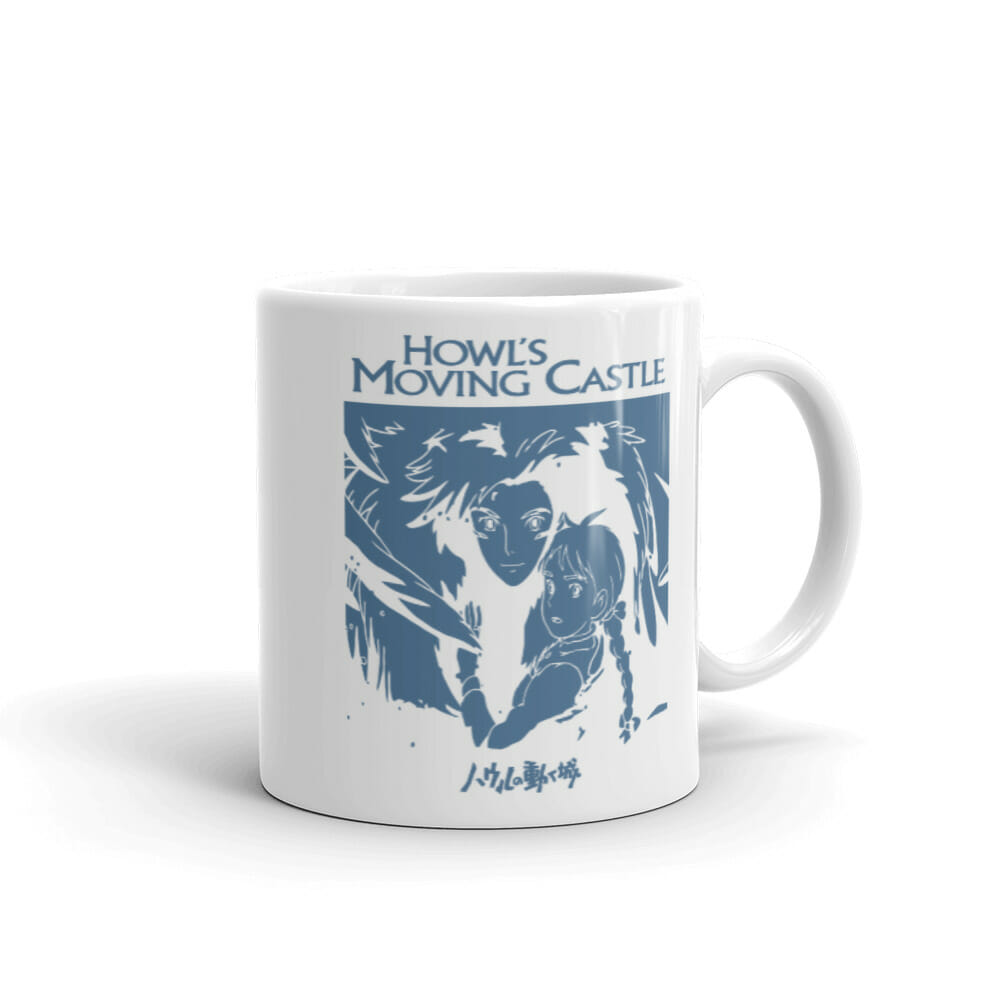 Howl's Moving Castle Black & White Mug