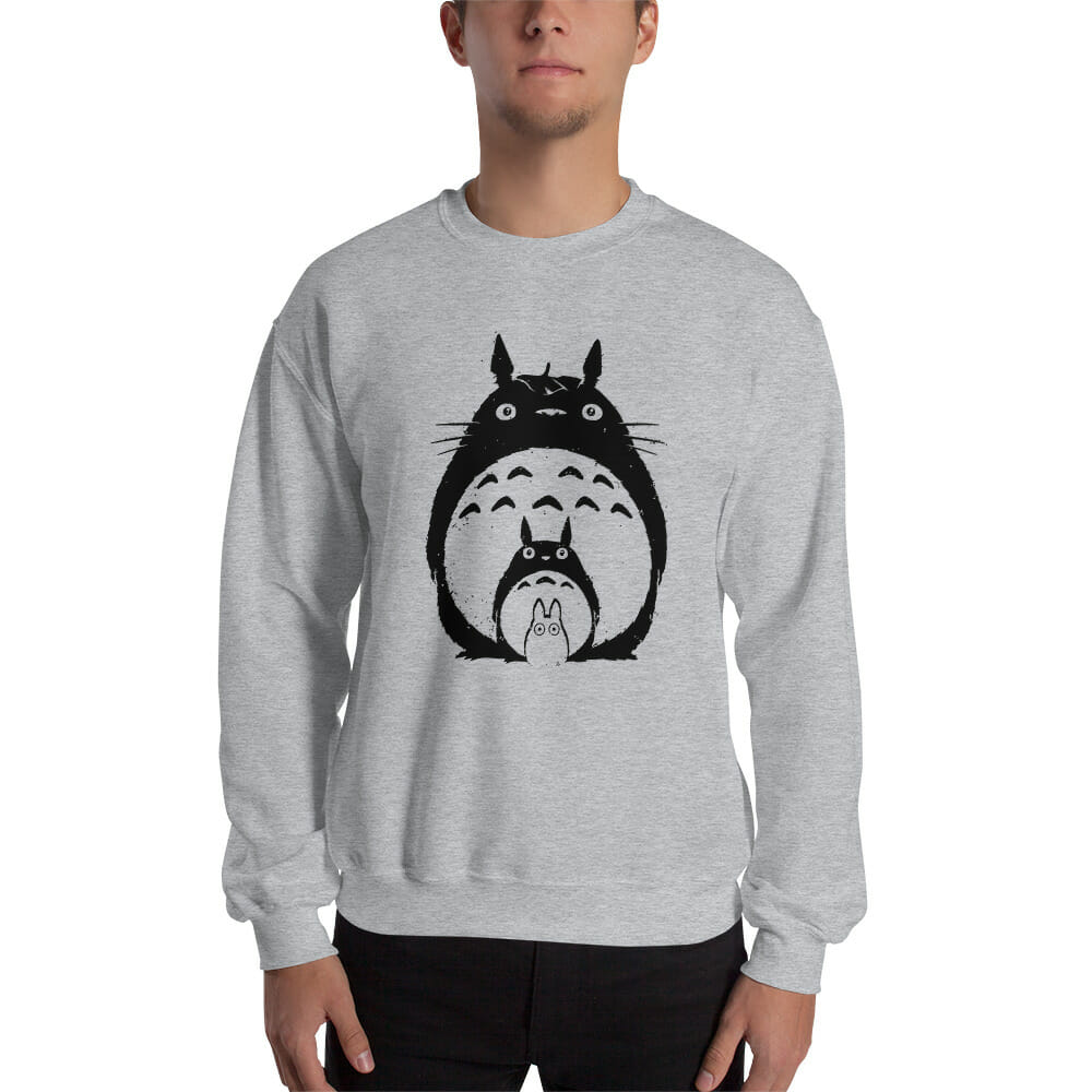 My Neighbor Totoro Black & White Sweatshirt Unisex
