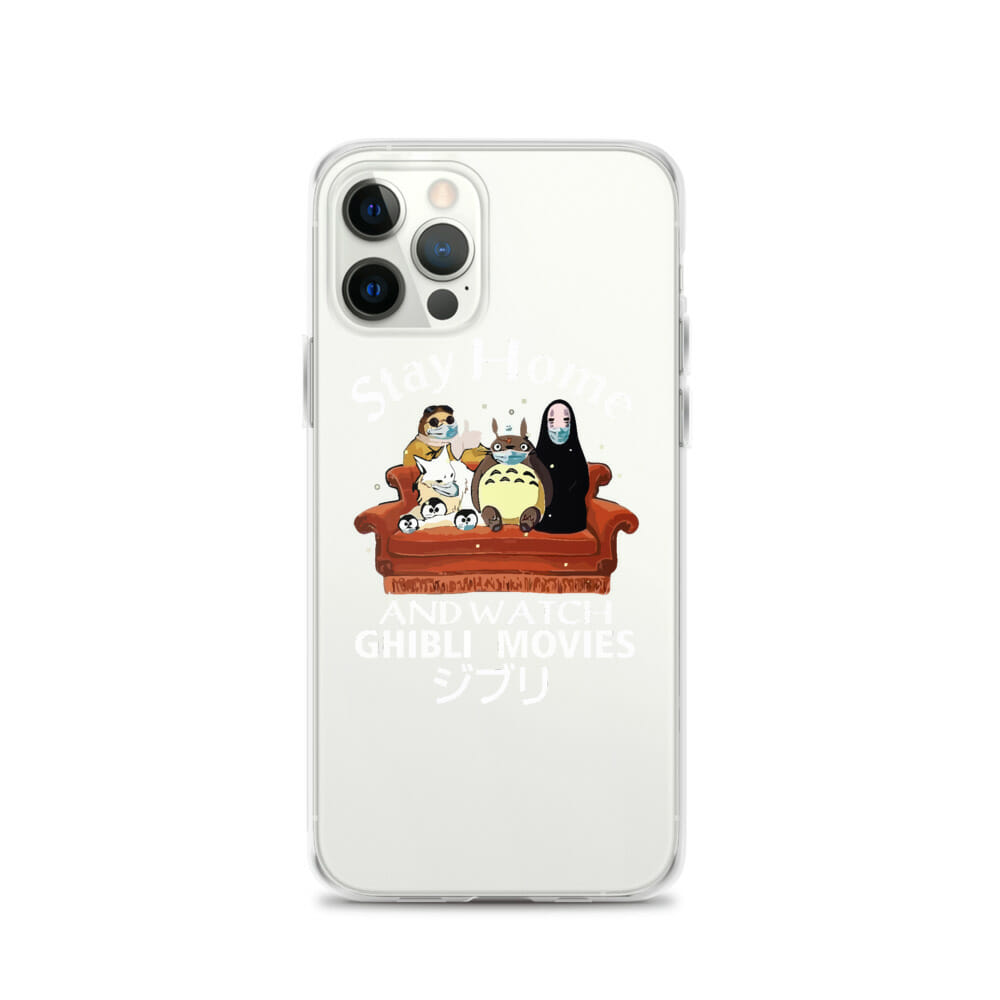 Stay Home and Watch Ghibli Movie iPhone Case
