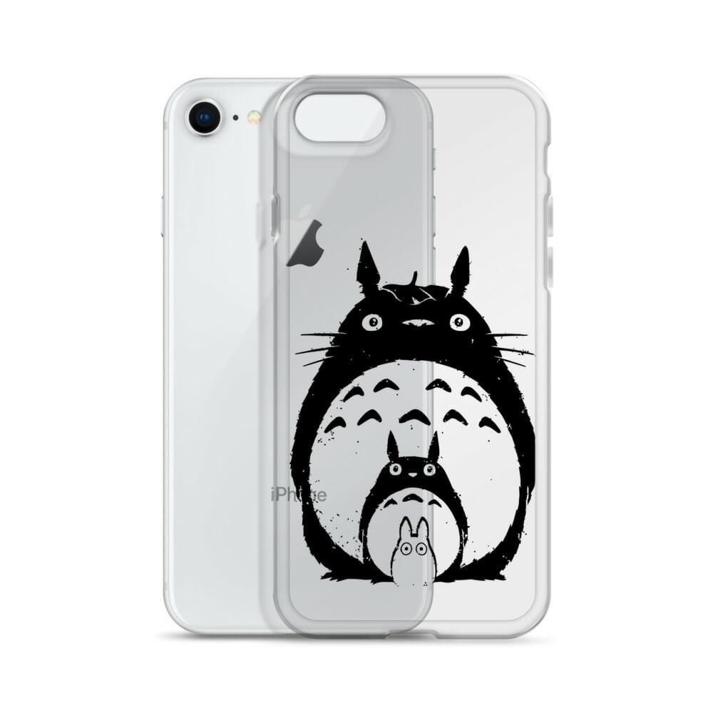 My Neighbor Totoro Black & White iPhone Case