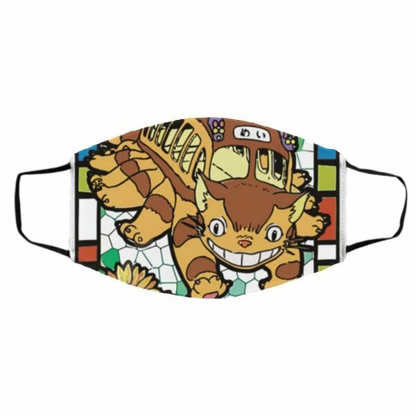 My Neighbor Totoro – Cat Bus Stained Glass Face Mask