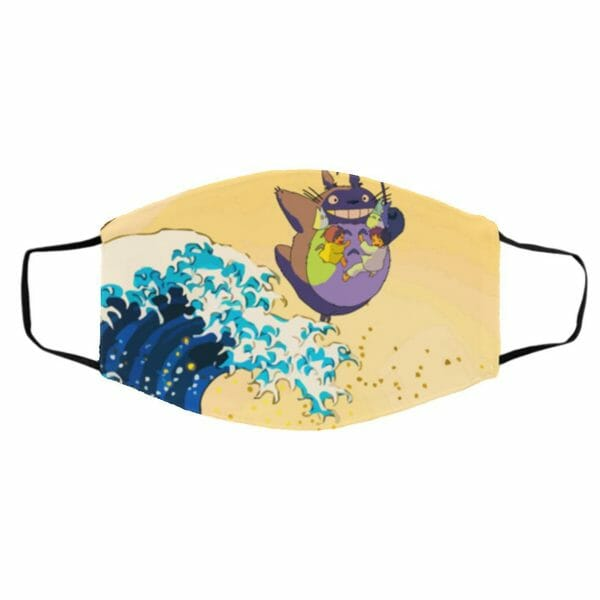 Totoro On The Waves Face Mask