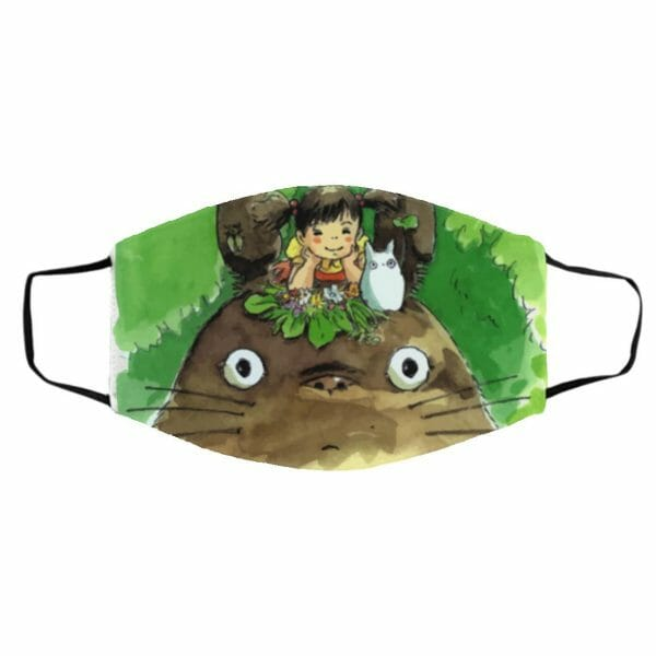 My Neighbor Totoro & Mei Water Color Art Face Mask